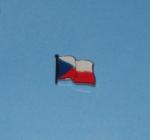 Vlající vlajka ČR - ražba