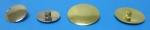 knoflíky hladké - mírně vypouklé