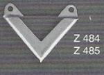našívací růžek - 20x20mm lemovací