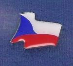 vlající vlajka ČR
